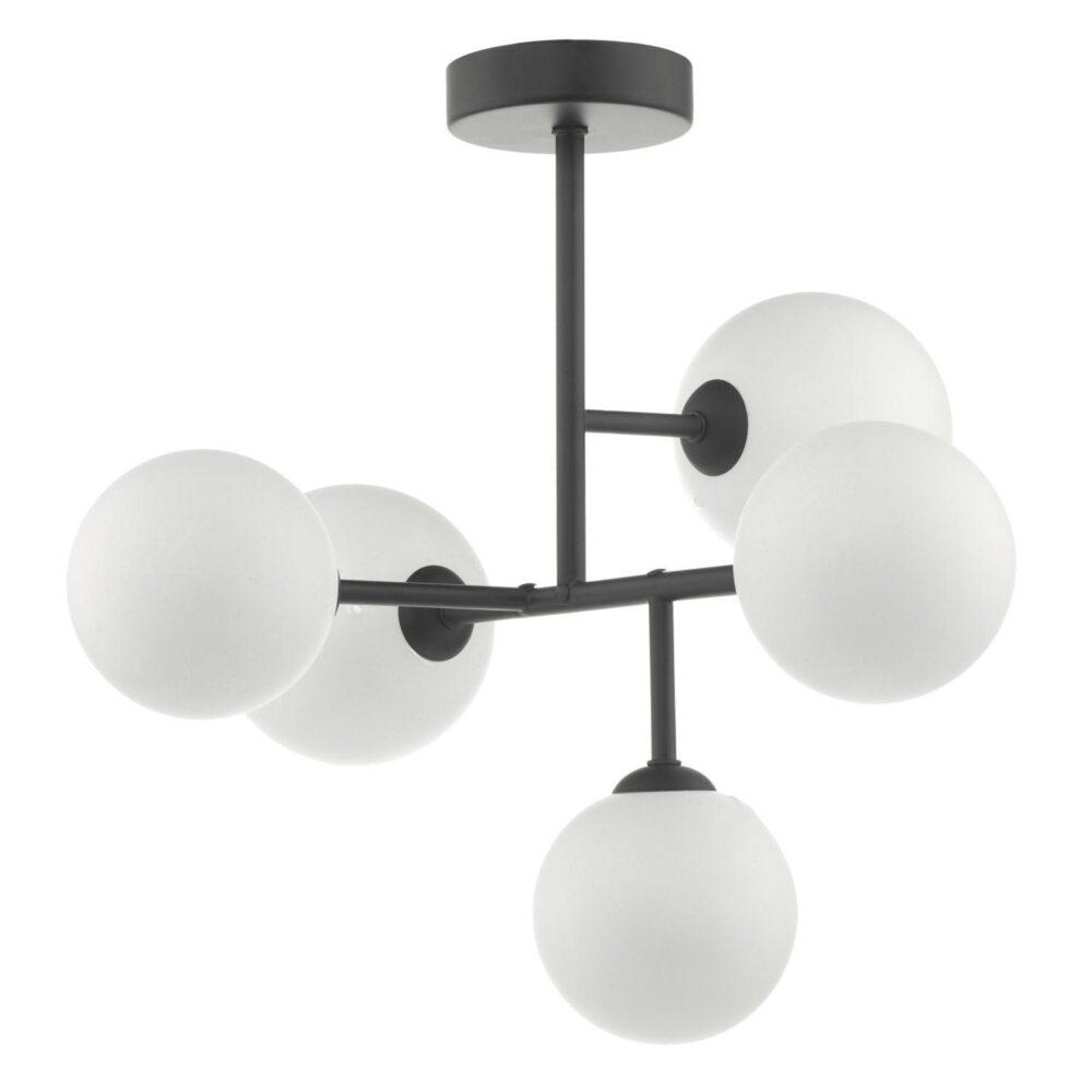5 Light Black Semi Flush Flush & Semi
