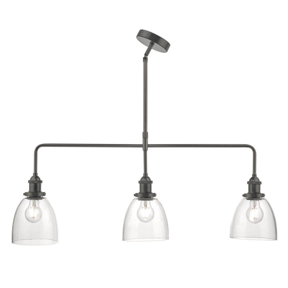 Pewter 3 Light Pendant Bar Flush & Semi