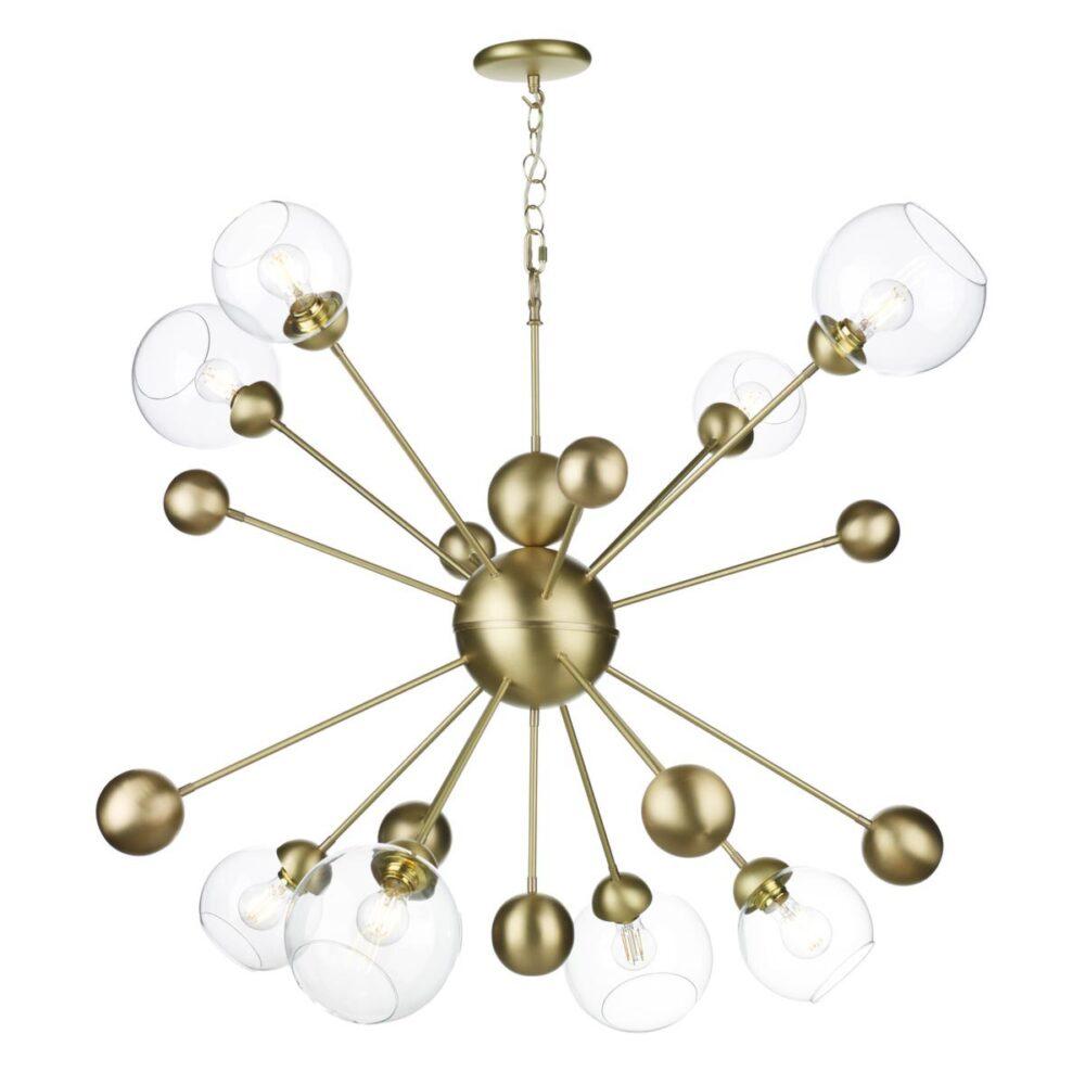 8 Light Brass Sputnik Chandelier Chandeliers