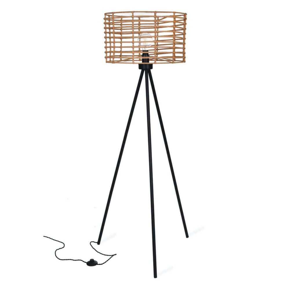 Bamboo Tripod Floor Lamp Floor Lamps
