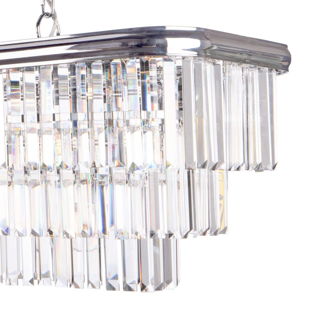 10 Light Polished Chrome Crystals Chandelier Chandeliers