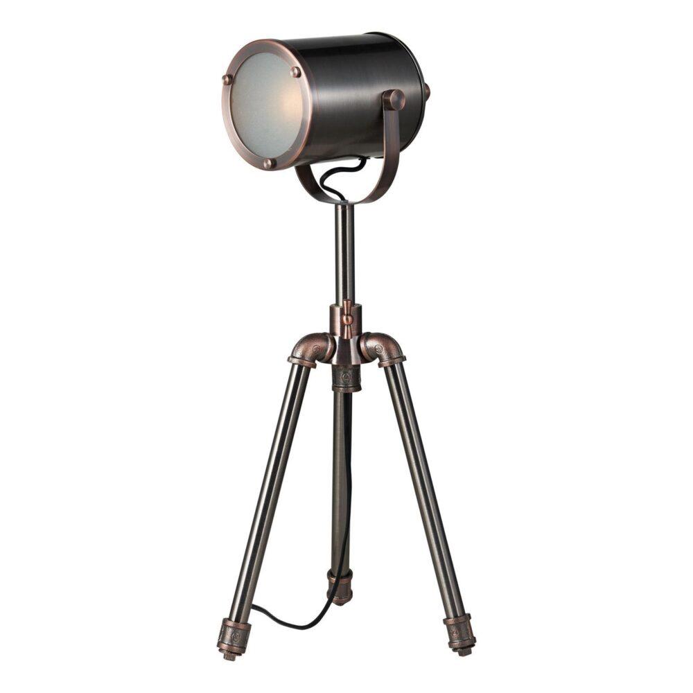 1 Light Antique Silver Antique Copper Table Lamp Table Lamps