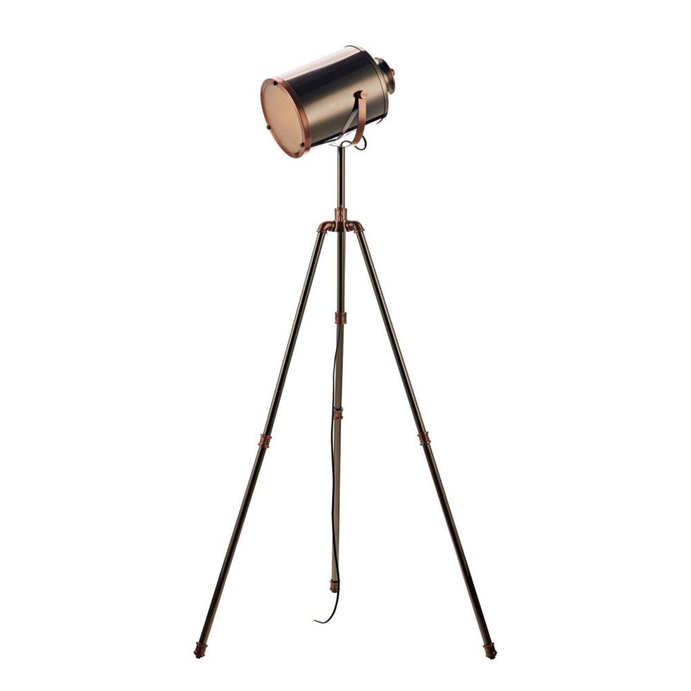 1 Light Antique Silver Antique Copper Floor Lamp Floor Lamps