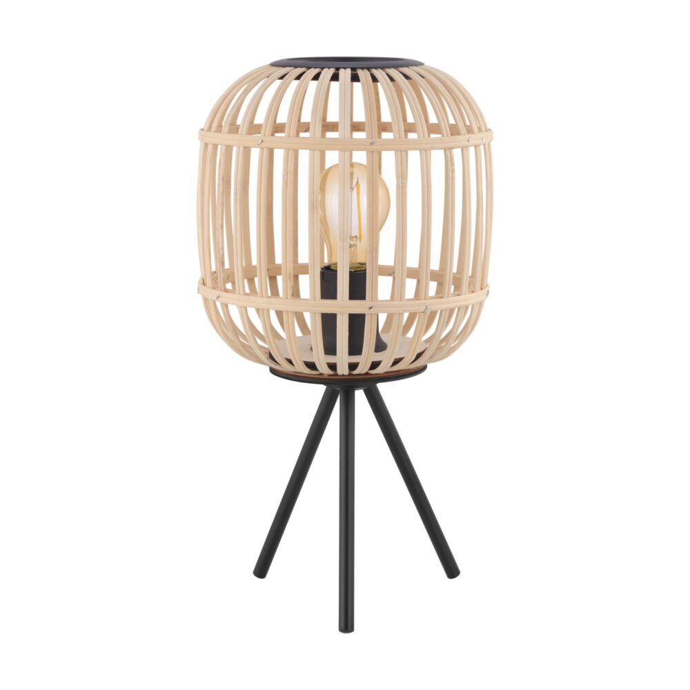 1 Light Rattan Natural Black Floor Lamp Floor Lamps