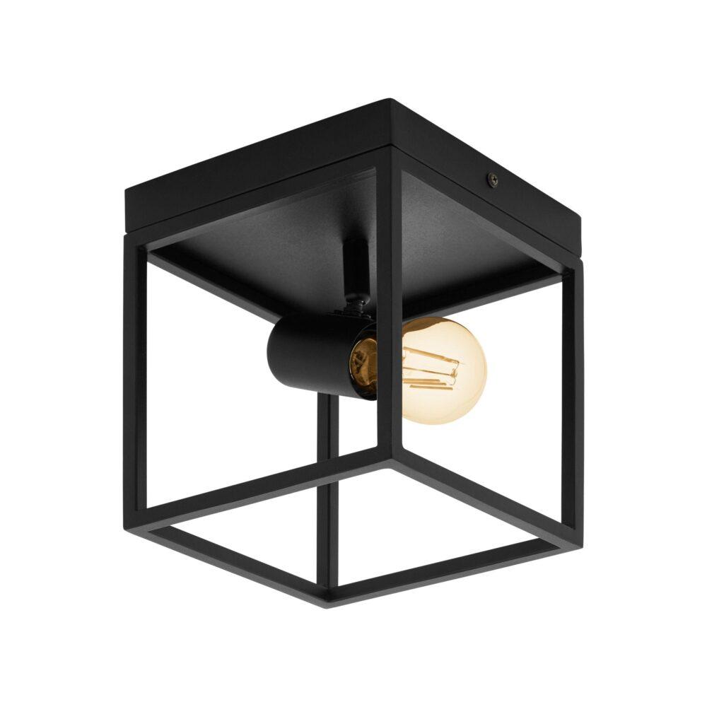 4 Light Black Natural Wood Spotlight Spotlights