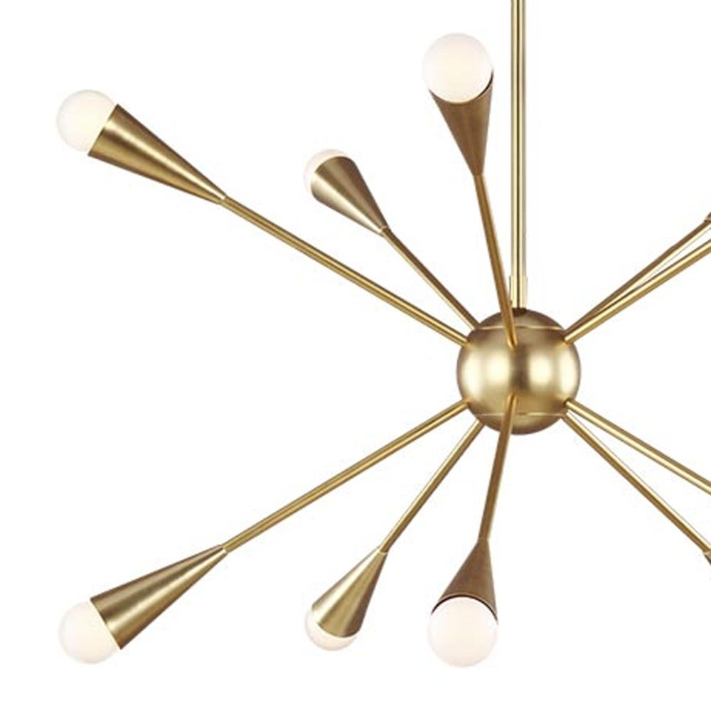 10 Light Burnished Brass Chandelier Chandeliers