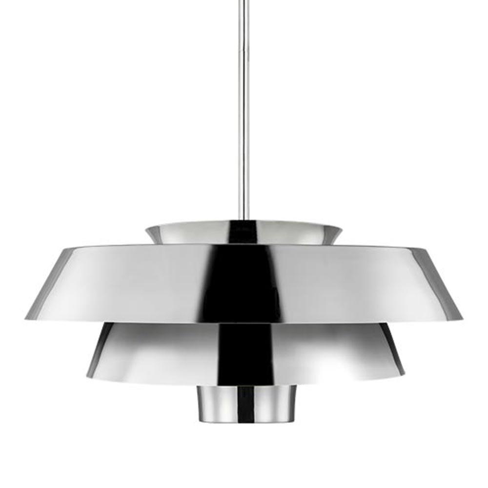 1 Light Polished Nickel Pendant Pendants