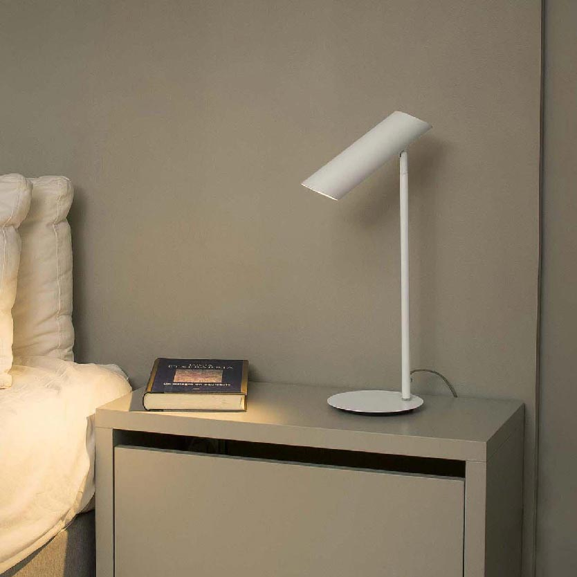 1 Light White Table Lamp Table Lamps