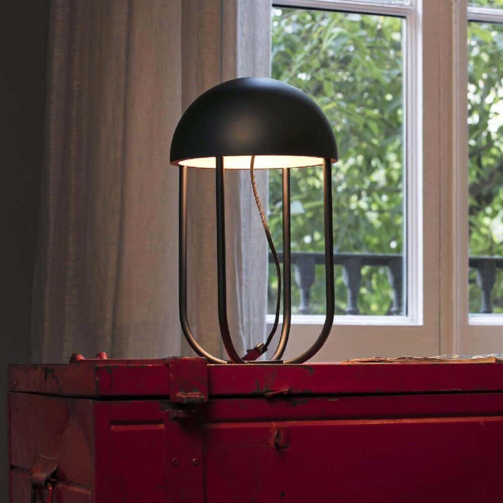 1 Light Black Gold Table Lamp Table Lamps