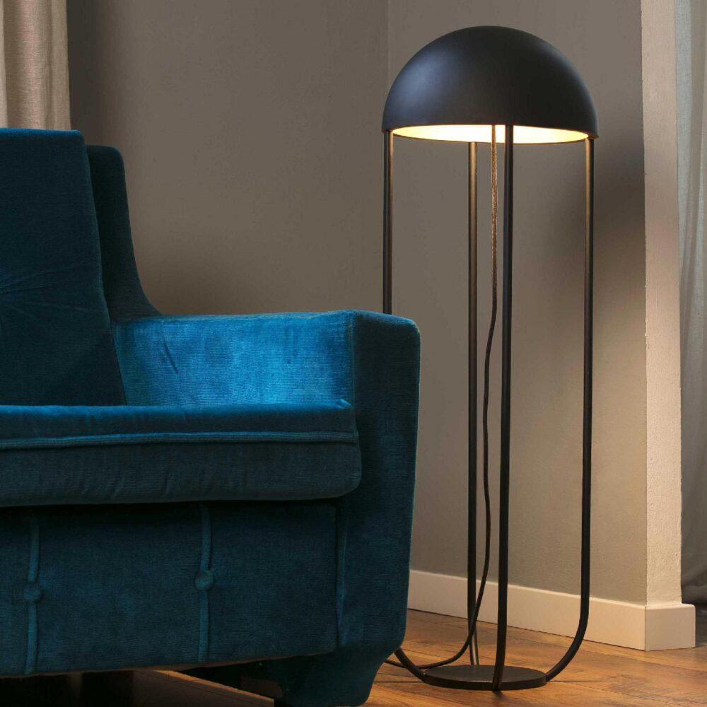 1 Light Black Gold Floor Lamp Floor Lamps