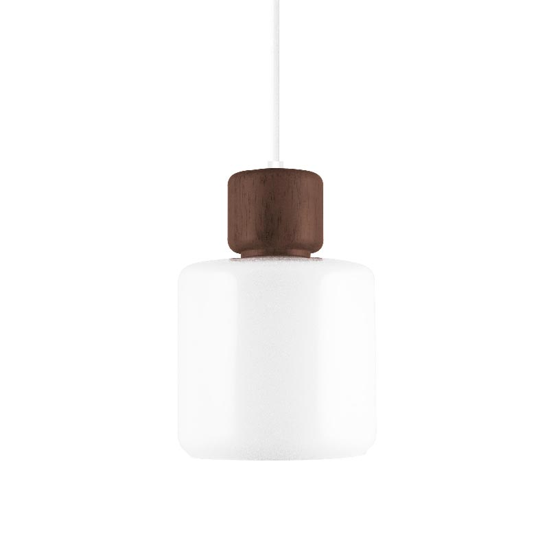 1 Light Opal Glass Natural White Pendant Pendants