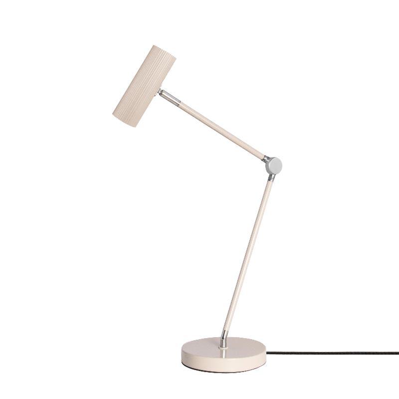 1 Light Beige Metal Chrome Desk Lamp Table Lamps
