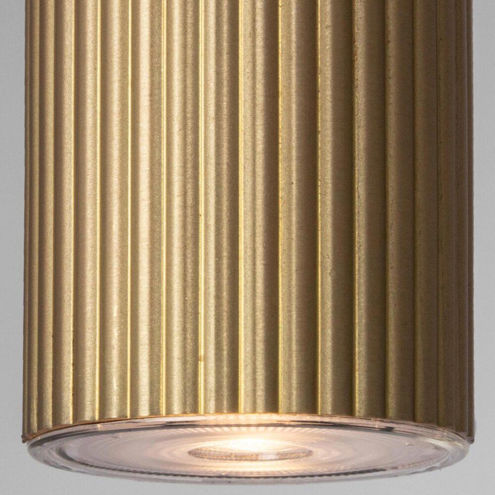 1 Light Brushed Brass Pendant Pendants