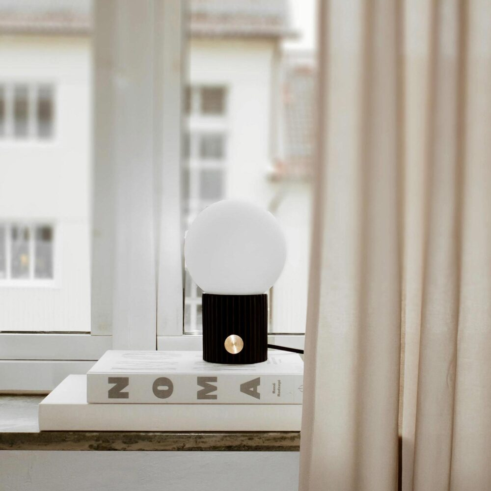 1 Light Black Brass Opal Glass Table Lamp Table Lamps