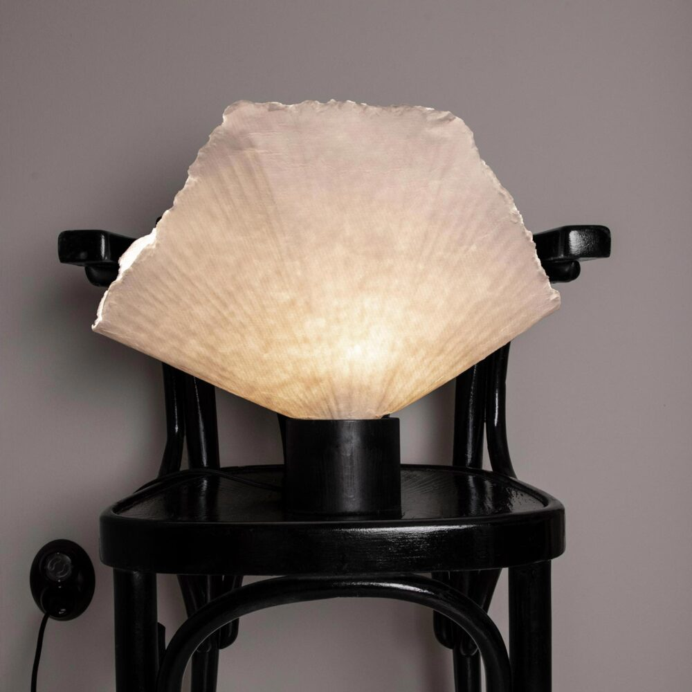 1 Light Black White Paper Wood Natural Table Lamp Table Lamps