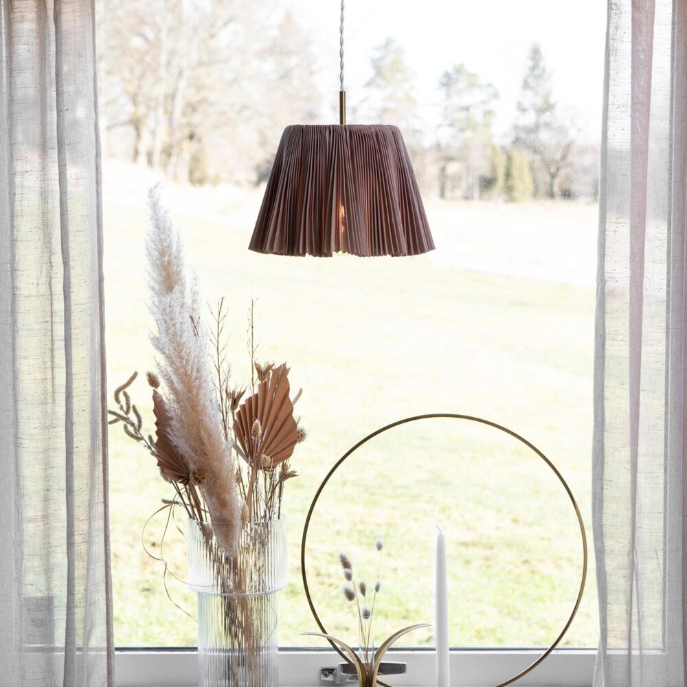 1 Light Brown Fabric Brushed Brass Table Lamp Table Lamps