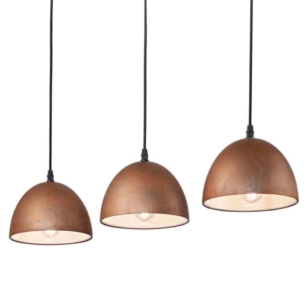 3 Light Rusted Enamel Pendants Pendants