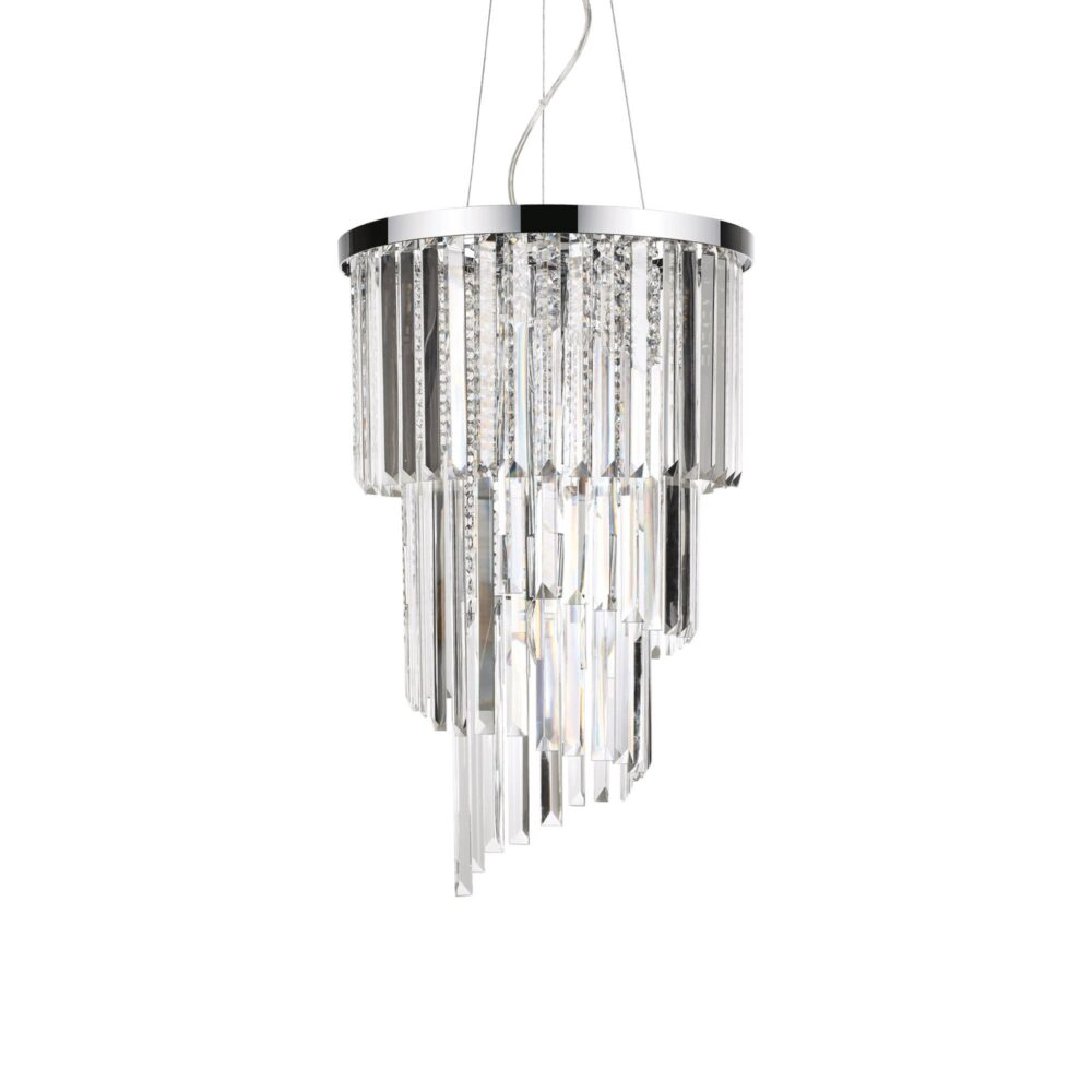 8 Light Chrome Crystals Chandelier Chandeliers