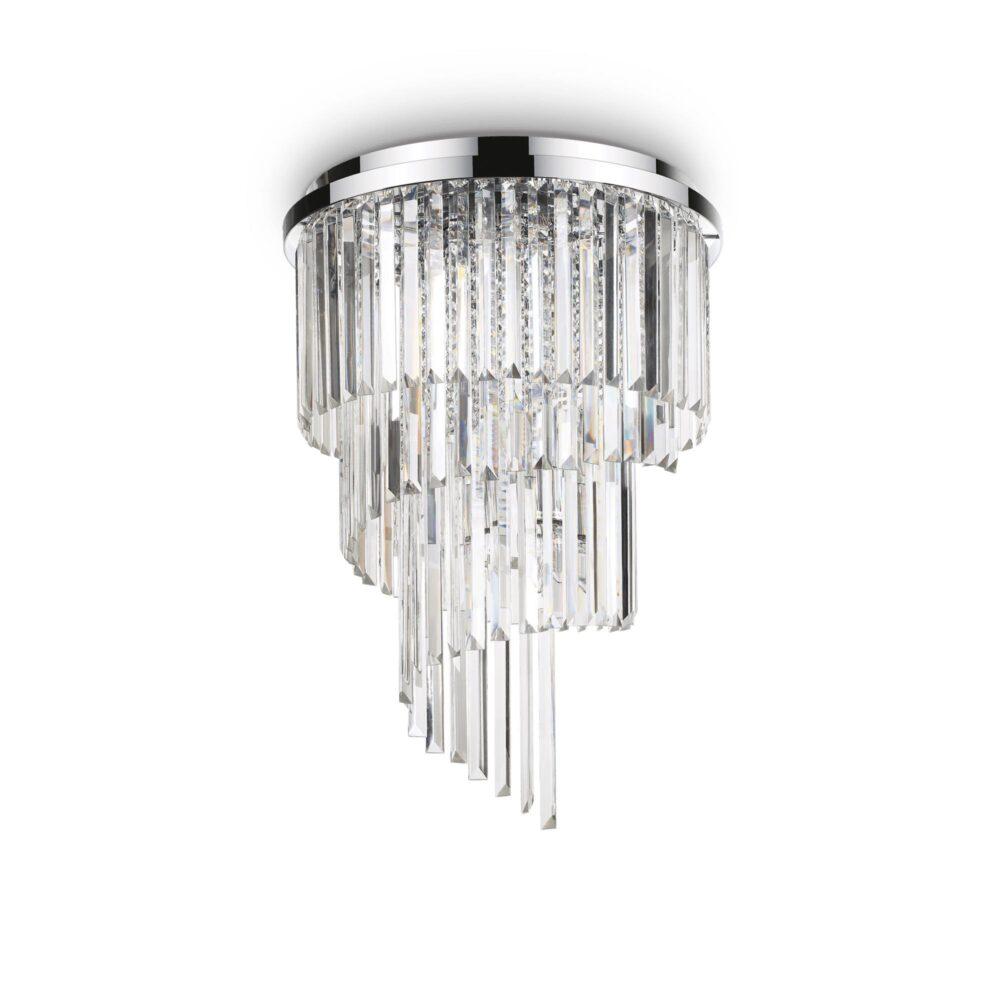12 Light Chrome Crystals Flush Flush & Semi