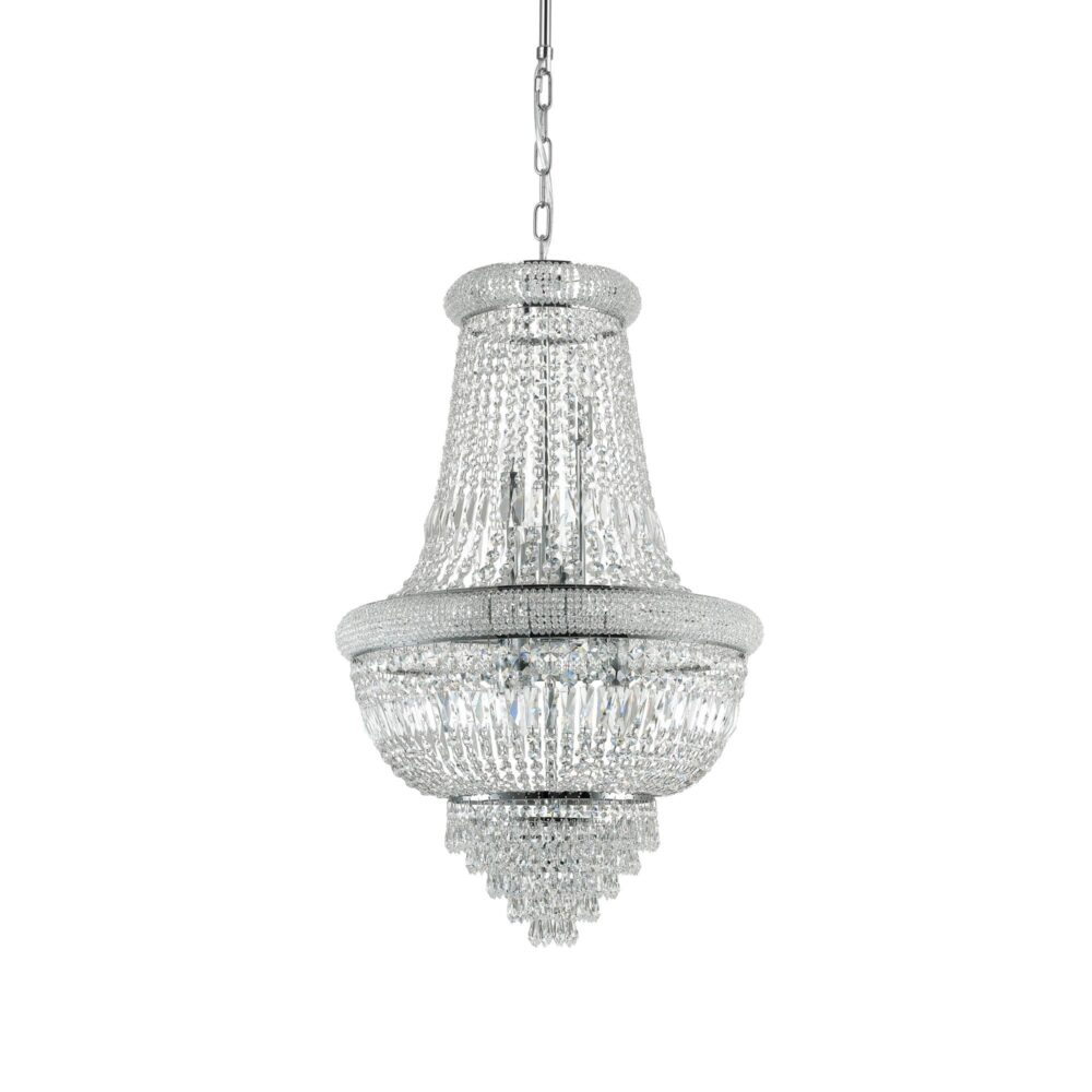 10 Light Chrome Crystals Chandelier Chandeliers