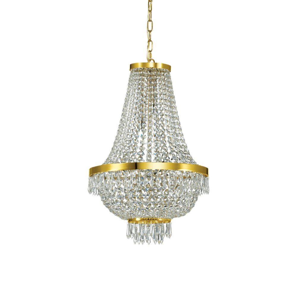 9 Light Gold Crystals Chandelier Chandeliers