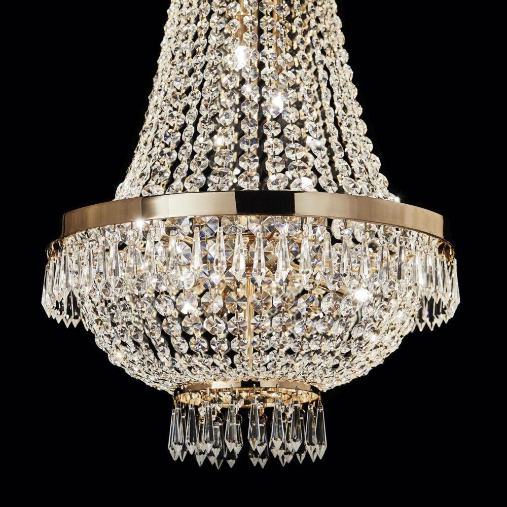 12 Light Gold Crystals Chandelier Chandeliers