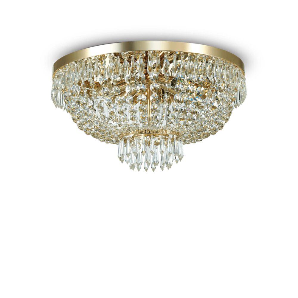 5 Light Gold Crystals Flush Flush & Semi