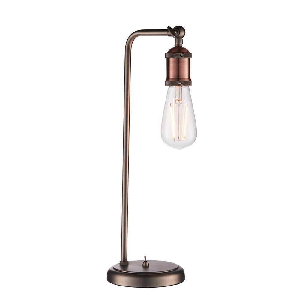 1 Light Aged Pewter Aged Copper Table Lamp Table Lamps