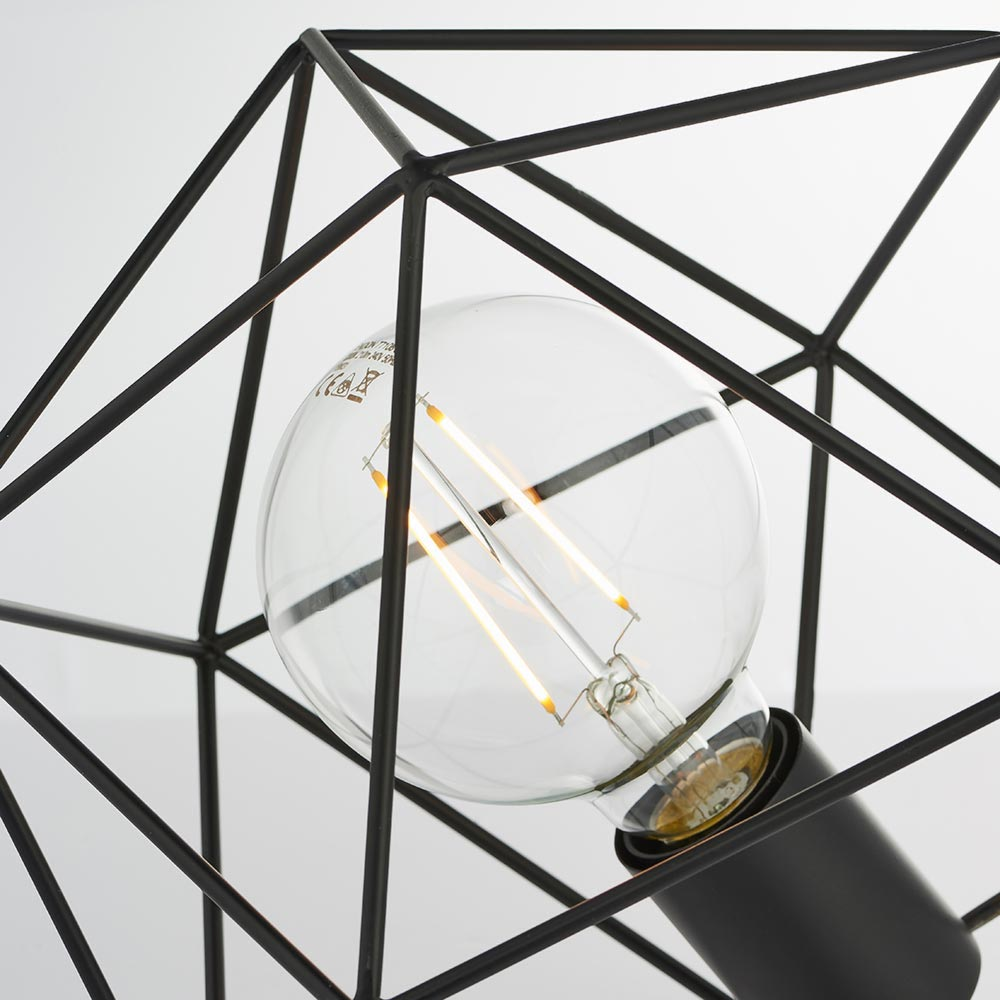1 Light Matt Black Yellow Table Lamp Table Lamps