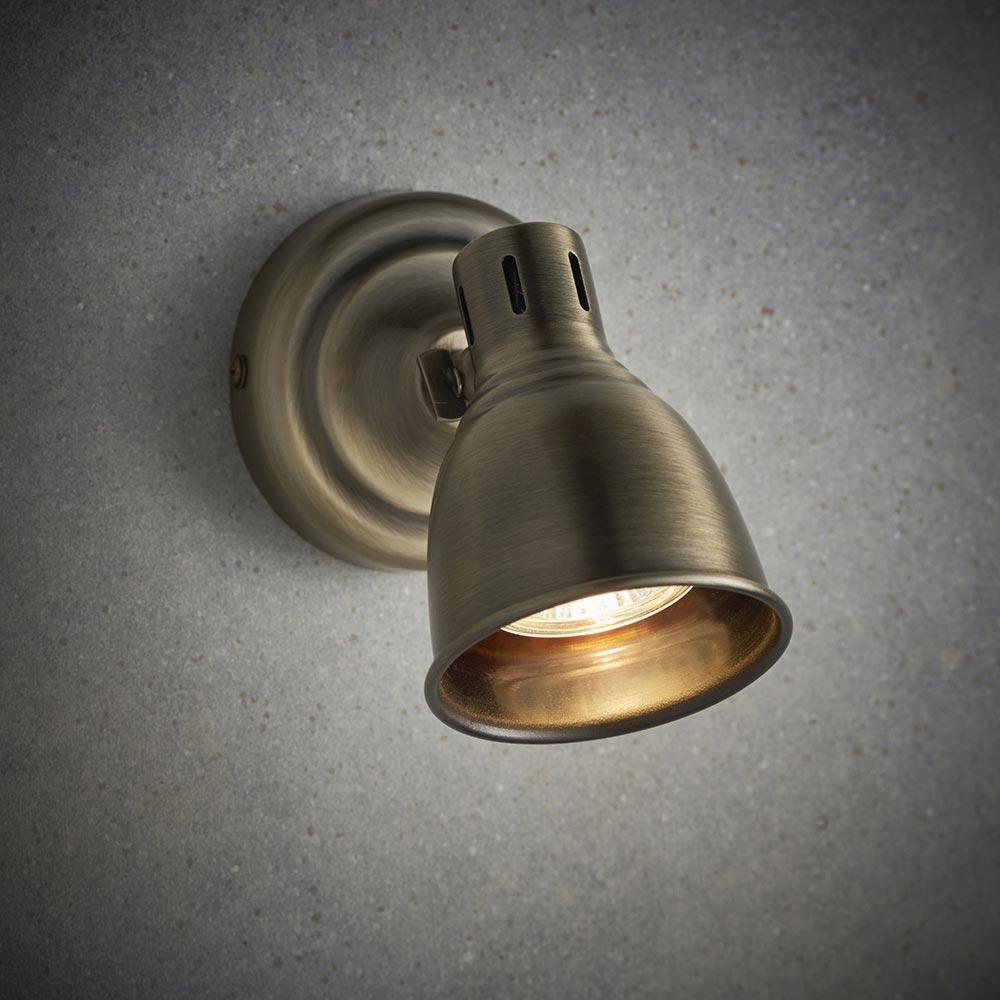 1 Light Antique Brass Spotlight Spotlights