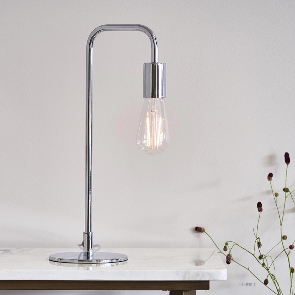 1 Light Polished Chrome Table Lamp Table Lamps