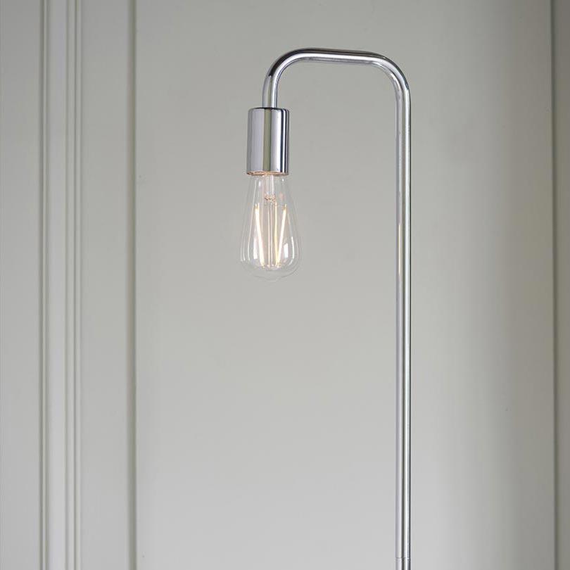 1 Light Polished Chrome Floor Lamp Floor Lamps