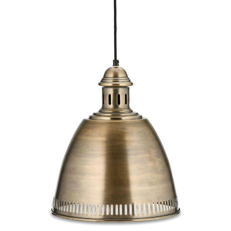 1 Light Antique Brass Pendant Pendants