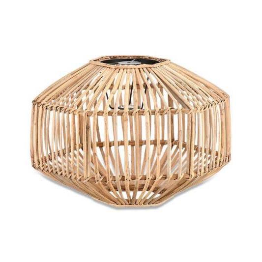 Light Natural Wood Cane Pendant Lampshade Pendants