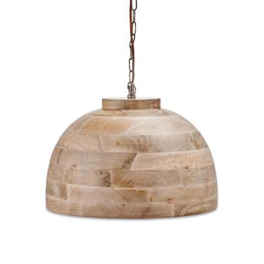 1 Light Natural Wood Pendant Pendants