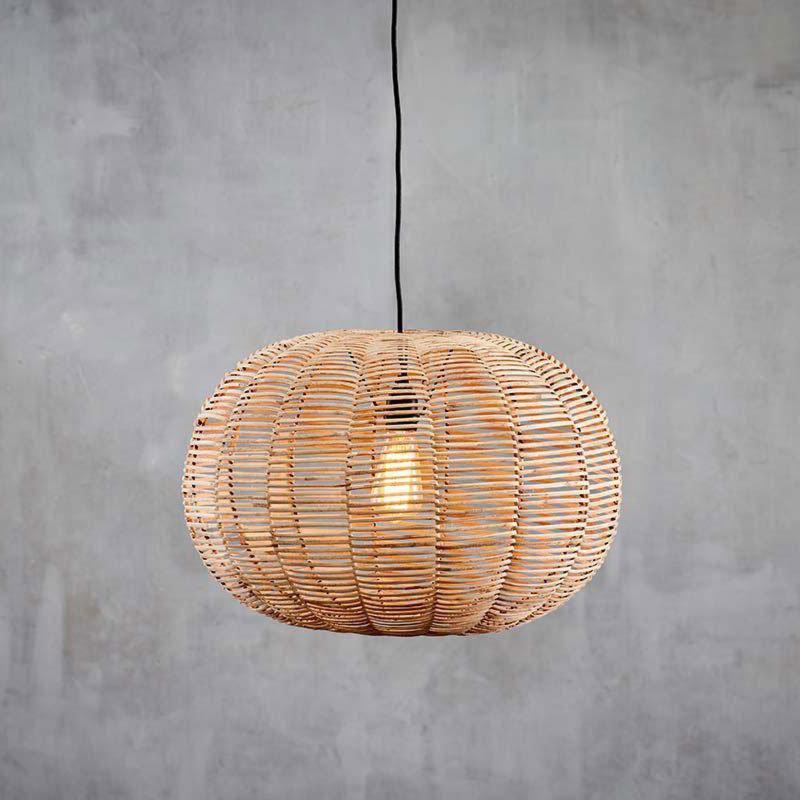 1 Light Natural Wood Black Pendant Pendants