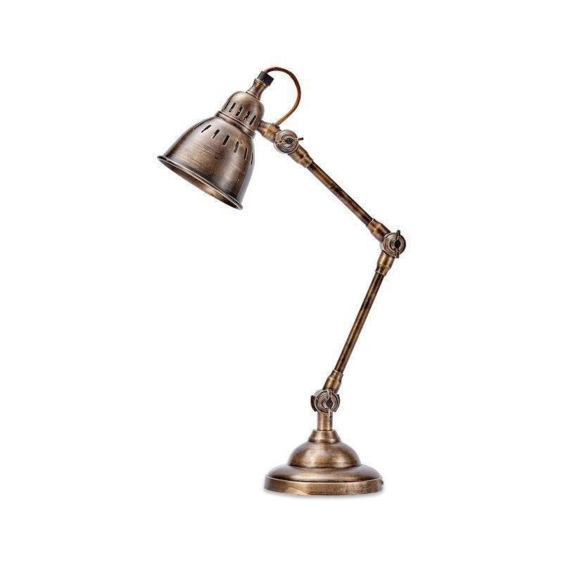1 Light Antique Brass Desk Lamp Table Lamps