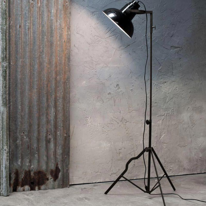 1 Light Matt Black Iron Enamel Tripod Floor Lamp Floor Lamps