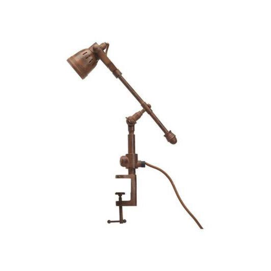 1 Light Rust Clamp Table Lamp Table Lamps
