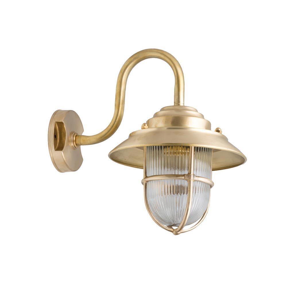 Oval Frosted Brass Bulkhead Eyelid Light Bulkheads