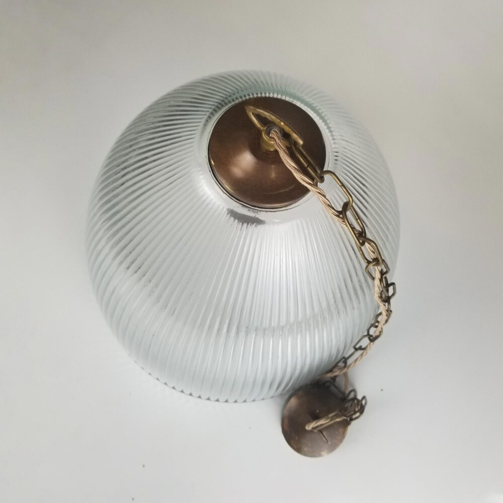 Large Prismatic Glass Cone Pendant Light Pendant Lights