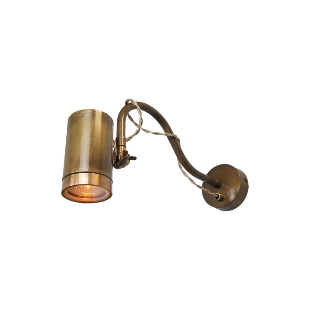 Adjustable Brass Poster Light with Flex Picture & Poster Lights