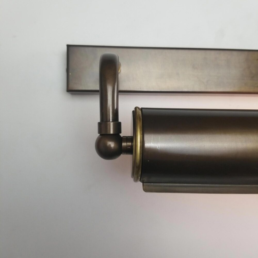 Small Twin Arm Brass Picture Light Lighting