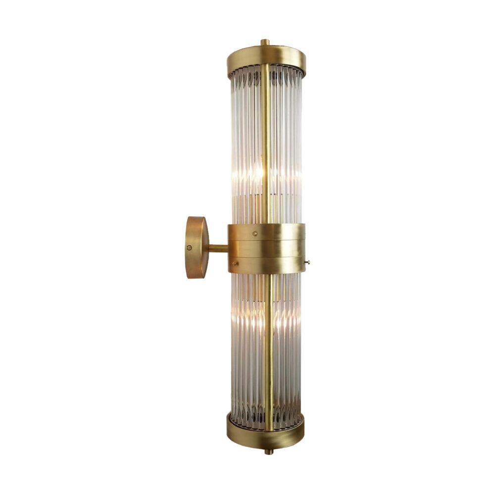 Double Glass Brass Rod Wall Light Wall Lights