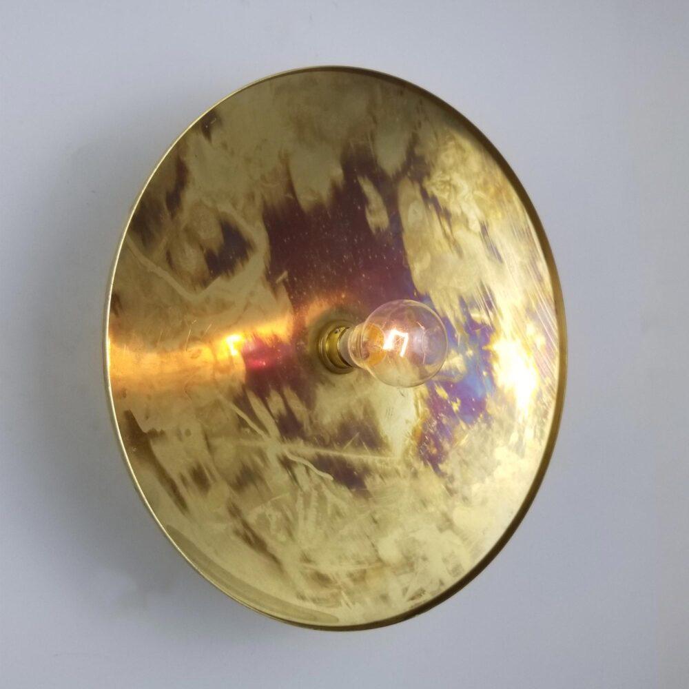 Distressed Brass Dish Wall Light Wall Lights