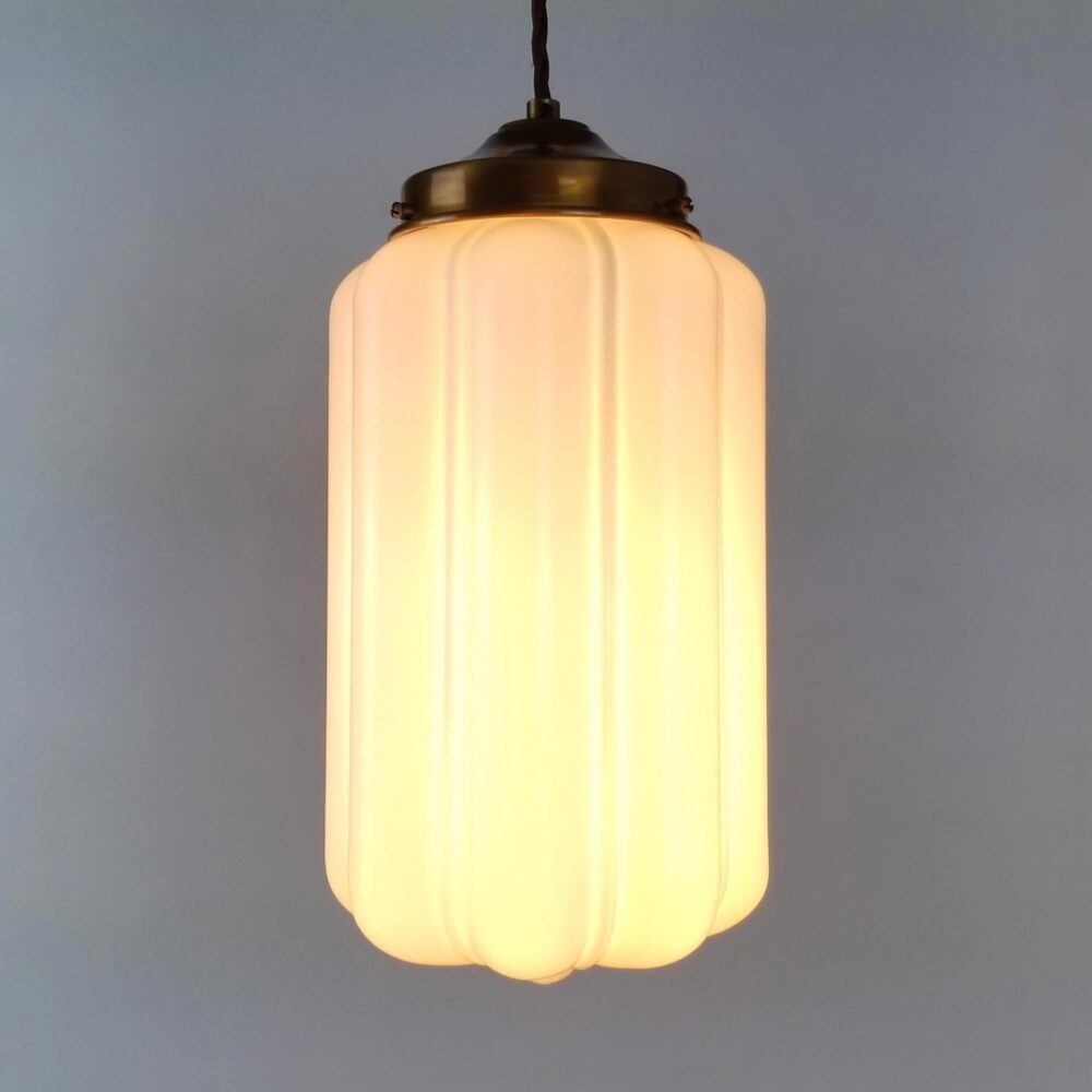 Ribbed Glass Pendant Light Pendant Lights