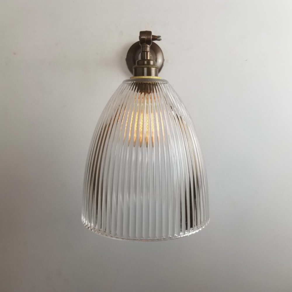 Adjustable Knuckle Brass Prismatic Glass Wall Light Wall Lights