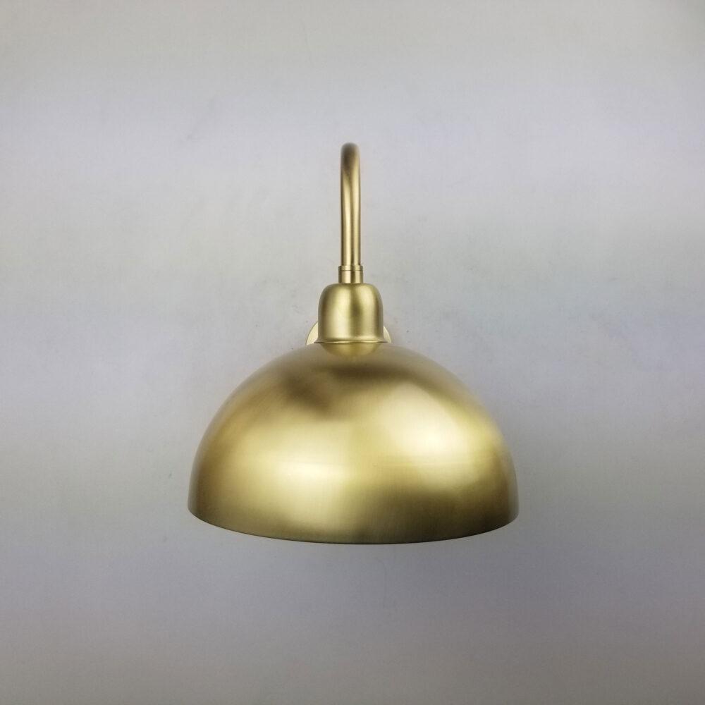 Swan Neck Brass Dome Wall Light Wall Lights