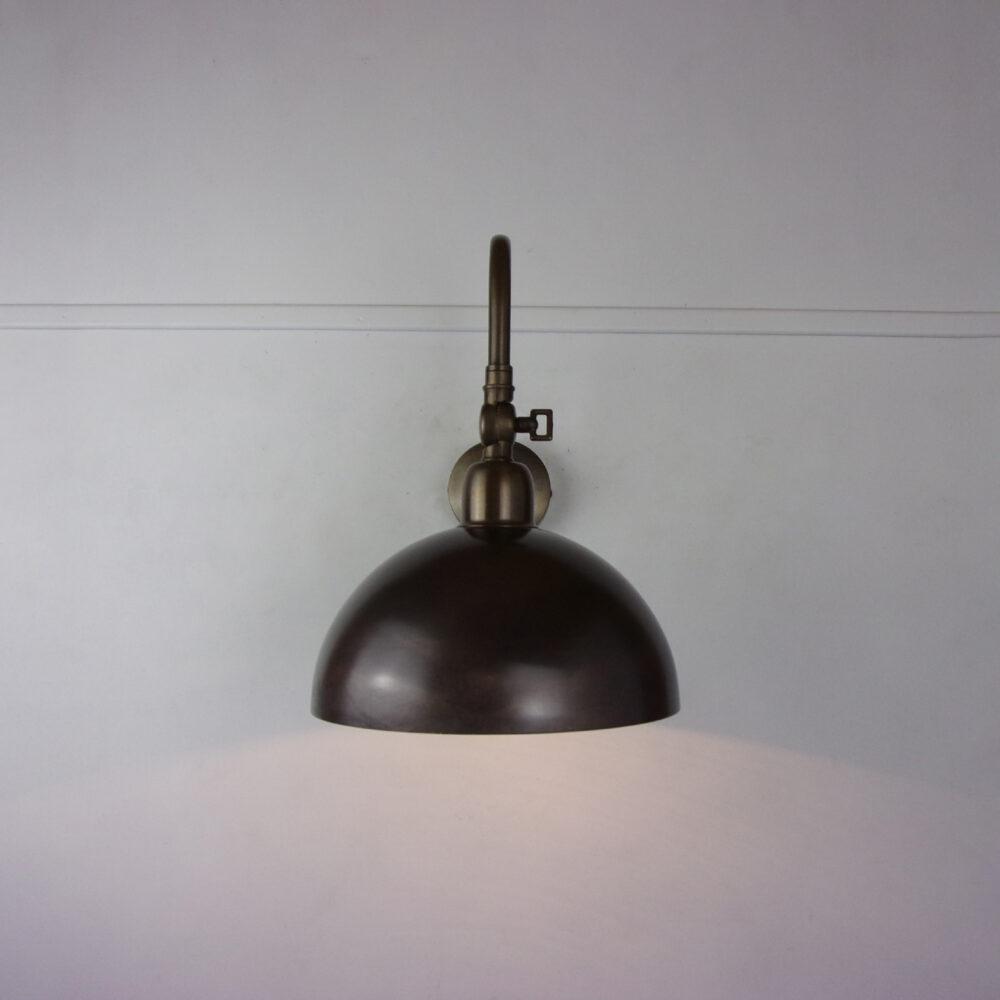 Adjustable Brass Dome Poster Light Wall Lights
