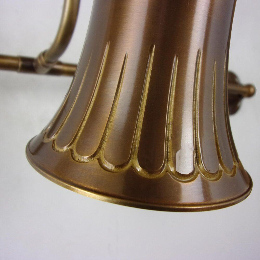 Twin Brass Adjustable Spotlight Wall Lights